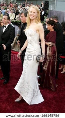 Nicole Kidman, wearng a Balenciaga dress and Fred Leighton jewelry, at OSCARS 78th Annual Academy Awards, The Kodak Theater, Los Angeles, CA, March 05, 2006 - stock photo