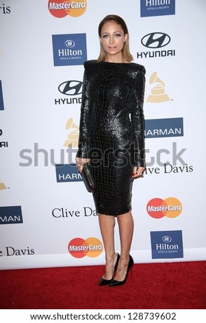Nicole Richie at the 2013 Clive Davis And Recording Academy Pre-Grammy Gala, Beverly Hilton Hotel, Beverly Hills, CA 02-09-13 - stock photo