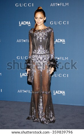 Nicole Richie at the LACMA 2013 Art + Film Gala Honoring Martin Scorsese And David Hockney Presented By Gucci held at the LACMA in Los Angeles, USA on November 2, 2013.  - stock photo