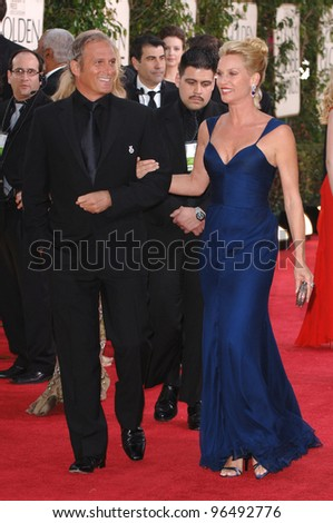 NICOLLETTE SHERIDAN & MICHAEL BOLTON at the 63rd Annual Golden Globe Awards at the Beverly Hilton Hotel. January 16, 2006  Beverly Hills, CA  2006 Paul Smith / Featureflash - stock photo