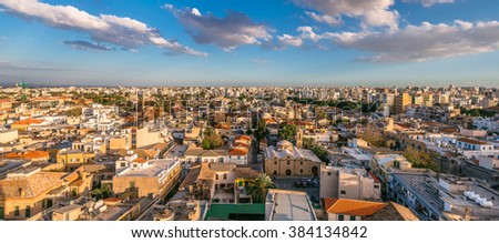Nicosia City, panoramic view. Old town. Cyprus. - stock photo