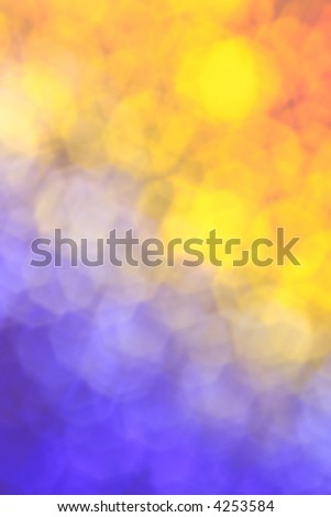 Night and day - blue and yellow background - stock photo