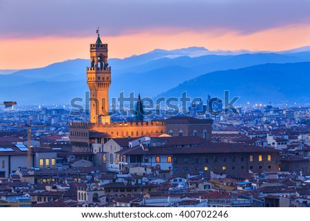 Night at Florence, Italy - stock photo