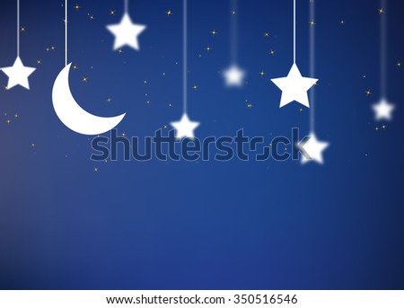 Night background with sky and stars.