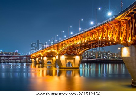 Night Bridge  - stock photo