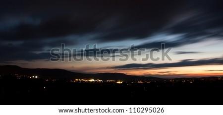 night city - stock photo
