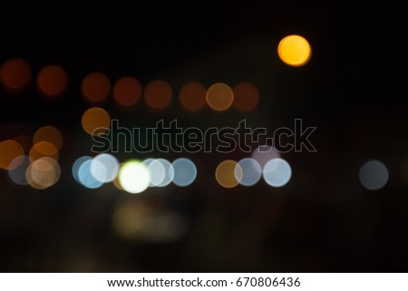 Night city background, abstract bokeh background, bokeh party in night, night city street lights bokeh background,  abstract circular bokeh background