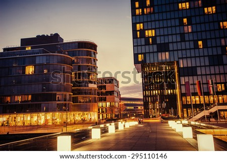 night city Dusseldorf. hotel Hyatt.Germany.
