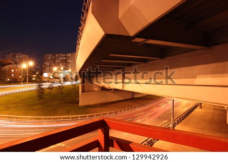 Night city in the details - stock photo