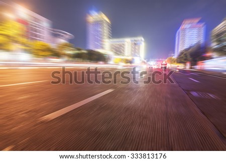 Night city road - stock photo
