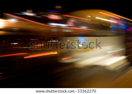 night city traffic lights in motion