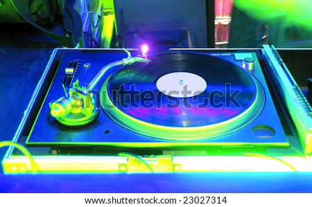 Night Club and vinyl - stock photo