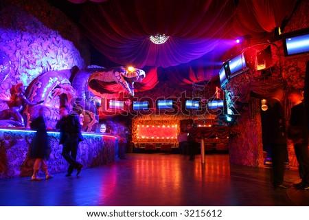 night club interior 2 - stock photo
