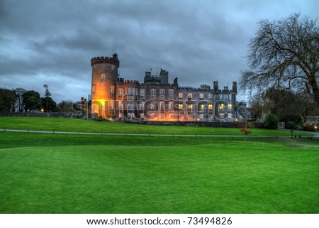 Night HDR of luxury Dromoland Castle in west Ireland