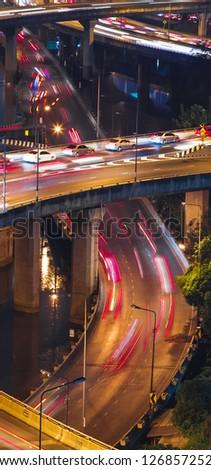 Night highways - stock photo