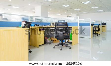 night indoor office - stock photo