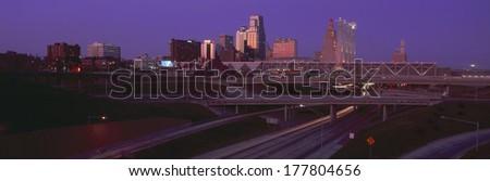 Night, Kansas City, Missouri - stock photo