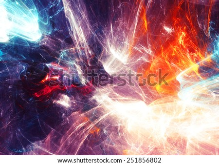 Night light show. Abstract color background with shiny effects for modern creative design. Beautiful decoration  for wallpaper, interior, album, flyer, cover poster, booklet. Fractal artwork  - stock photo