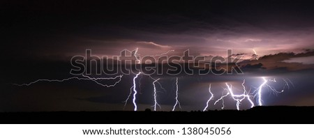 Night lightnings - stock photo