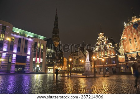 Night lights in Riga