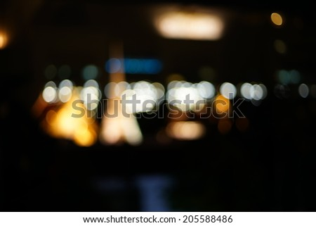 Night lights of the big city - Blurred Photo bokeh   - stock photo