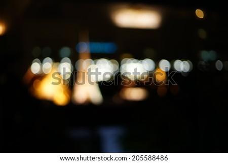 Night lights of the big city - Blurred Photo bokeh   - stock photo