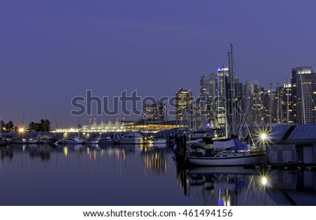 Night of Port Vancouver 1.Canada