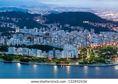 night of Rio de Janeiro - stock photo