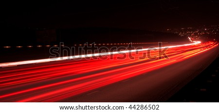 Night road - stock photo