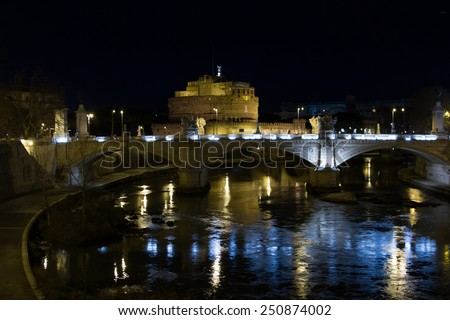 Night Rome - stock photo