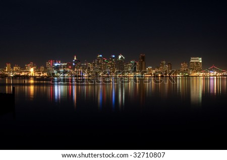 Night shot of San Diego Downtown
