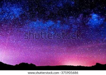Night Sky - stock photo