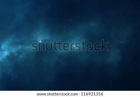 Night sky abstract background - Universe filled with stars, nebula and galaxy - stock photo
