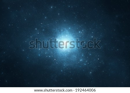Night sky - Deep blue night sky filled with stars and space dust - stock photo