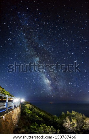 Night sky - milky way - stock photo