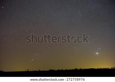 night sky scene - stock photo