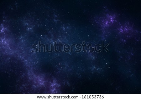 Night sky - Universe filled with stars, nebula and galaxy - stock photo