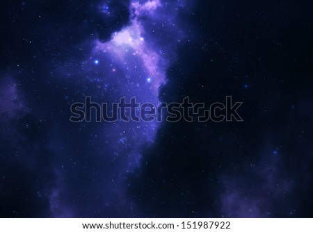 Night sky - Universe filled with stars, nebula and galaxy - solar system - stock photo