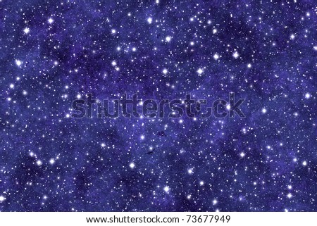 Night sky wallpaper with many stars and dreamy effect. - stock photo