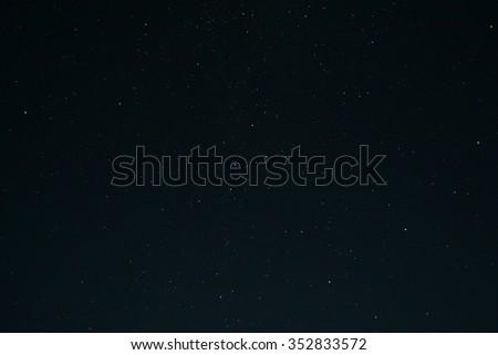 night sky with many stars - stock photo