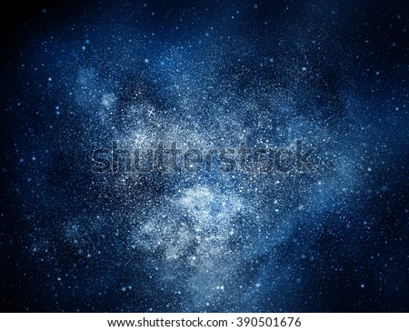 Night sky with stars and nebula