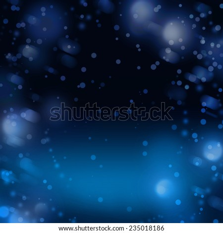 Night snow abstract winter background for Christmas or New Year - stock photo