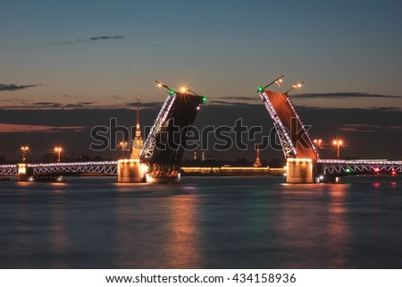 Night St. Petersburg. Bridges