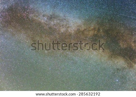 night starry sky - stock photo