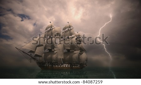 night storm coming - stock photo