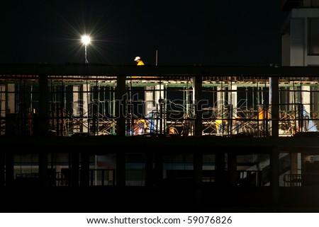 Night Time Under Construction I - stock photo