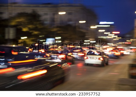 Night traffic blur bokeh background,colorful background