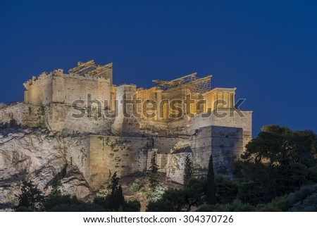 Night view of Acropolis - Greece