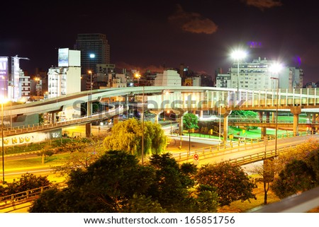 night view of Buenos Aires ,Argentina - stock photo