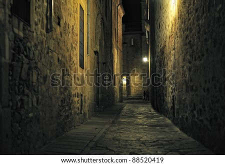 night view of Caceres (Extremadura, Spain)